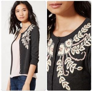 NEW Anthropologie Fanned Vines Cardigan by Tabitha